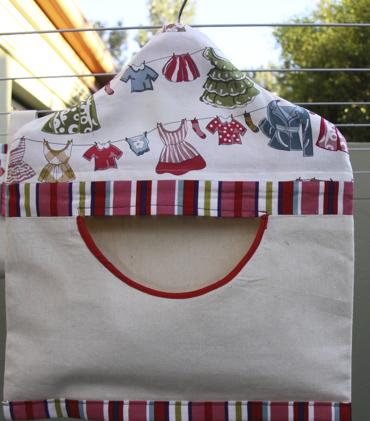 Fully lined Peg Bag includes quality wooden hanger for easy hook up on the clothes line. Handmade in Australia. e: alollycreation@gmail.com