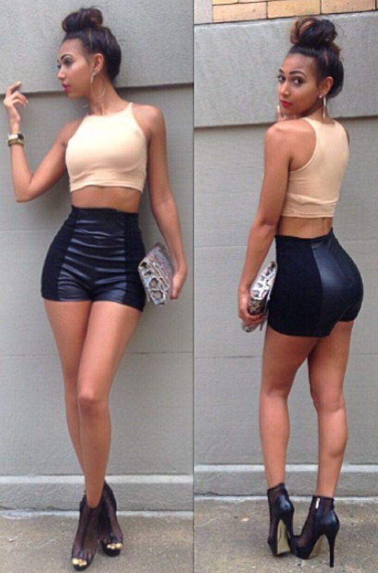 High Waist Leather Shorts | High Waisted Shorts | Pinterest | Leather Shorts Shorts And Leather