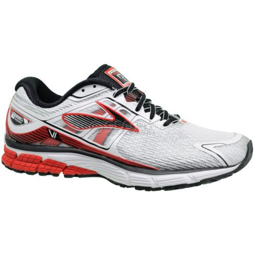 New-Brooks-Ravenna-6-Mens-Running-Shoes-Wide-Width-2E-White-Red-Black