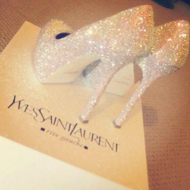 Wow .. Yves Saint Laurent shoes..