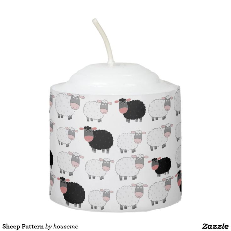 Sheep Pattern Votive Candle