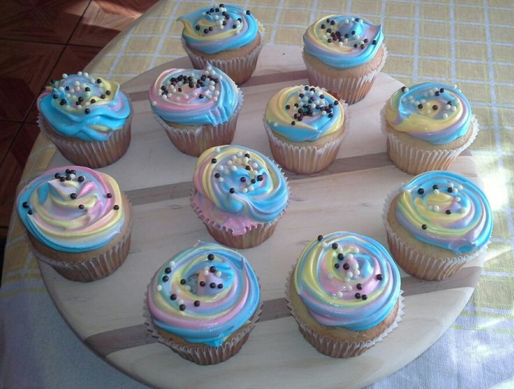 Cup cakes bicolor