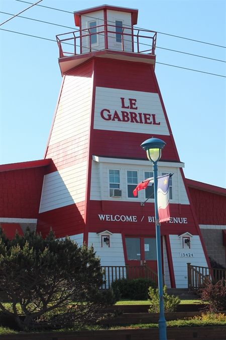 Want to eat in a lighthouse?  Then check out Le Gabriel Restaurant in the Acadian village of Cheticamp on Cape Breton Island.