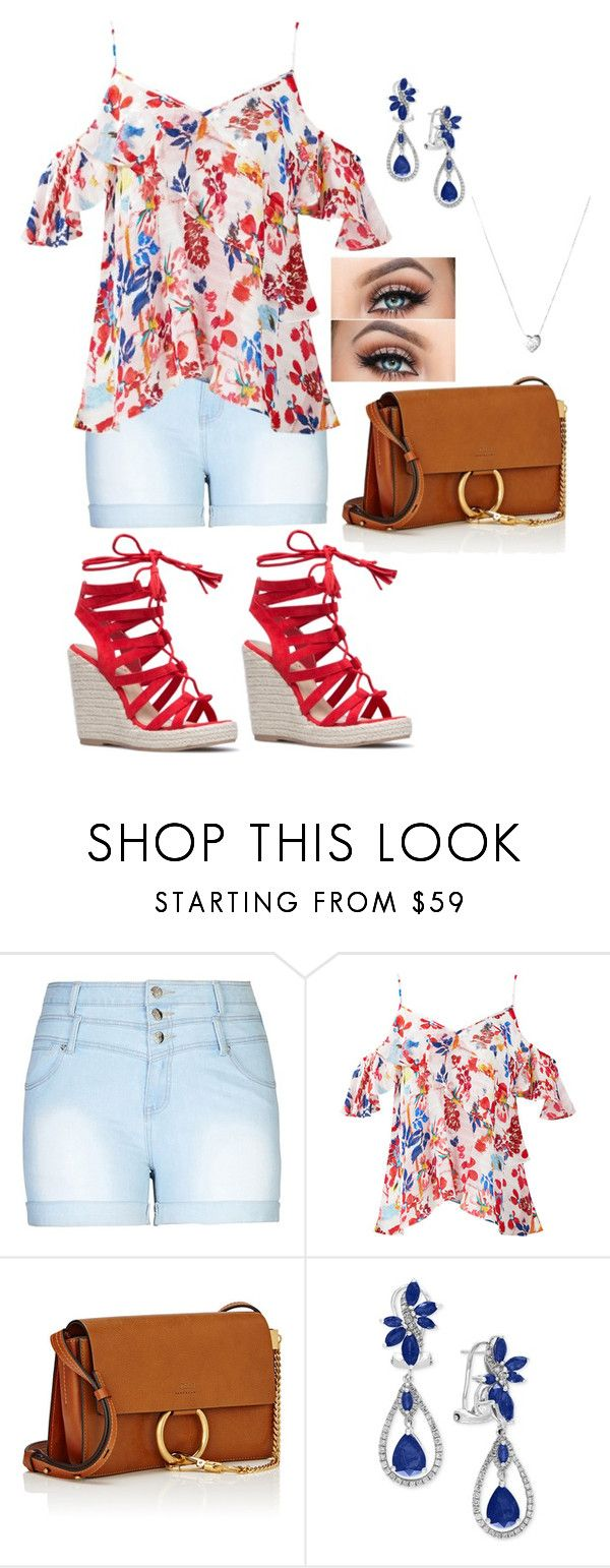 """""""Spring Shorts 2"""" by artisticstyler ❤ liked on Polyvore featuring City Chic, Tanya Taylor, Chloé, Effy Jewelry, Links of London and plus size clothing"""