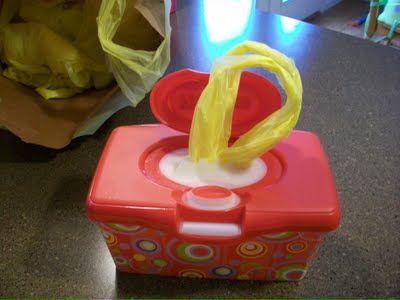 Reusing baby wipe containers