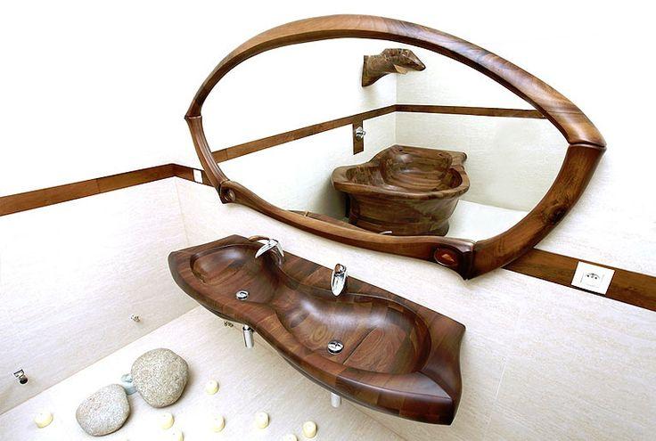 Dřevěná koupelna NIRVANA http://podlahove-studio.com/content/40-drevene-koupelny-drevene-vany-a-umyvadla