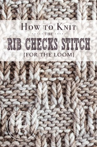 Knitting Rib Stitch For Beginners : Best images about knifty knitter loom stitches on
