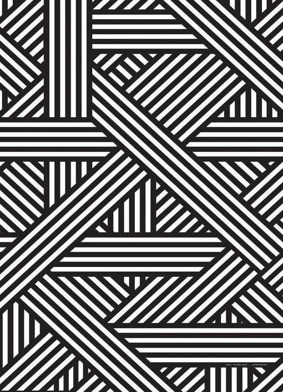 B W Lines Von The Wall Shop Abstrakt Geometrisch