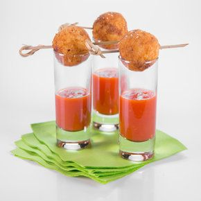 What's not to love about a fried mouthful of rice, sausage, and parmigiano-regiano? Serve in shot glasses with a touch of marinara sauce for a festive appetizer.