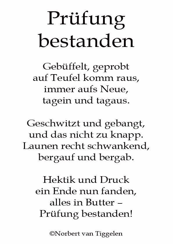 Pin Von Karen Zetatosk Auf Alles Spruche Gluckwunsche Zur Bestandenen Prufung Gedichte Und Spruche