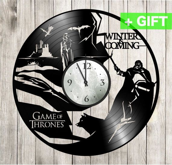 """Game of thrones wall clock. Game of thrones decor. Game of thrones ornament clock """"Game of thrones 1"""". Game of thrones gifts."""