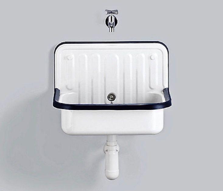 Utility Bucket Wall Sink Enamel Alape Gardenista 1 Bucket Sink