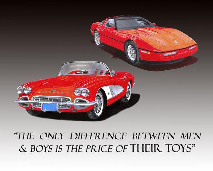 Corvettes Price of Toys - Jack Pumphrey Art