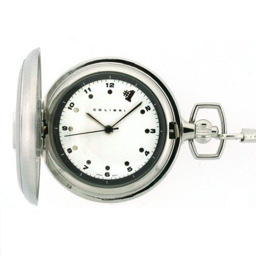 Colibri Pocket Watch #1 Stainless Steel with Chain PWQ097200C Colibri. $16.95. Pocket Watch Chain Included. #1 Embosed on Cover. White Dial with Black Numerals. Colibri Pocket Watch. Hunting Case
