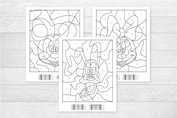 Free Disney Color By Number Printables For Kids Disney Colors Disney Coloring Pages Space Coloring Pages
