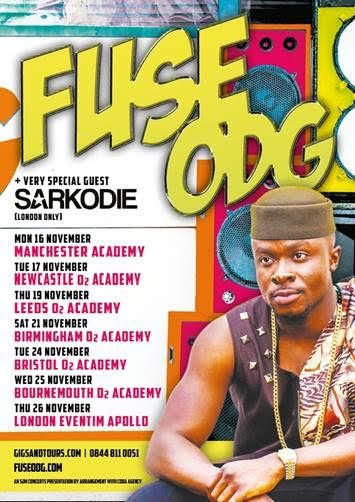 FUSE ODG Announces UK Headline Tour November 2015WithGuitars