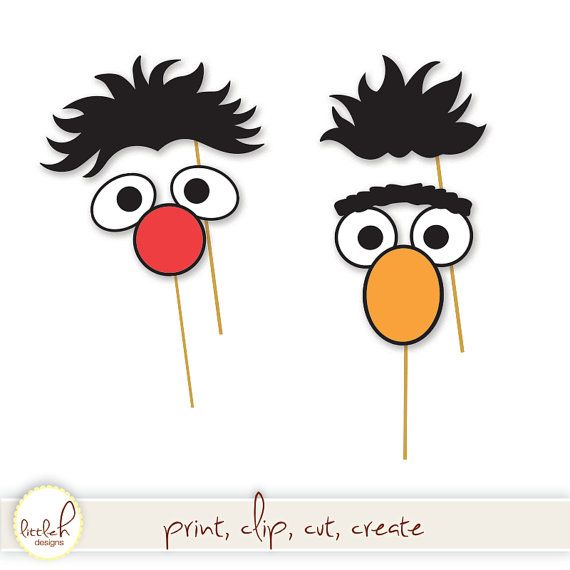 Sesame Street Printable Photo Booth Props by PartiPartieParty