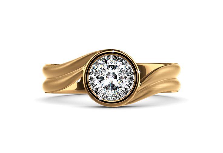 """Cerlila"". One of our modern solitaires. #diamantring #brillantring #verlobungsring #solitär #ringkonfigurator #selbstgestalten #brillant #gelbgold #yorxs"
