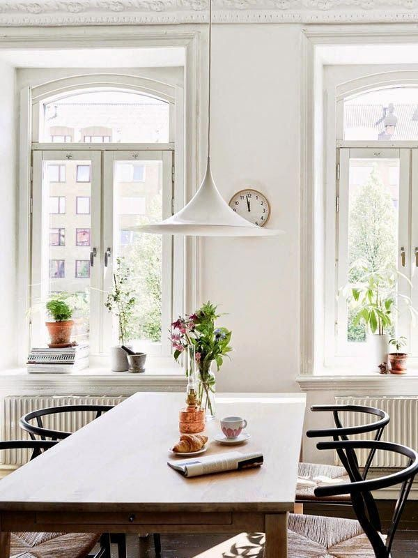A stunning Gothenburg home with a black floor (via Bloglovin.com ) #ModernHomeDecorInteriorDesign