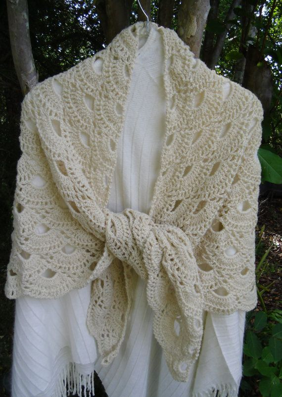 Crochet shawl shoulder cover Mother\'s Day Grandmother\'s Day gift in ...