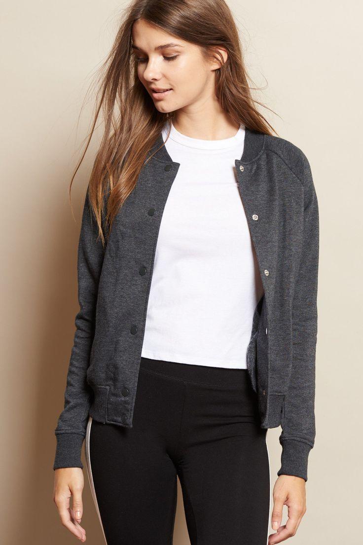 Button Up Fleece Bomber