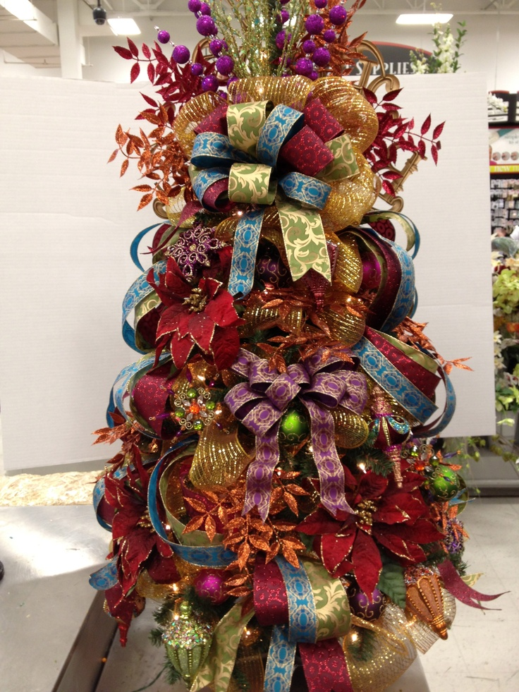 98 best my christmas floral designs michaels images on for Christmas trees at michaels craft store