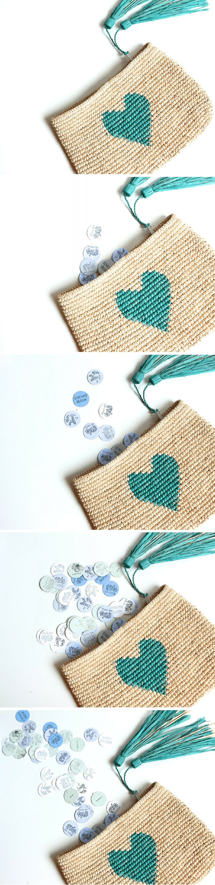 this little heart clutch would be a great gift for the bride or bridesmaids!