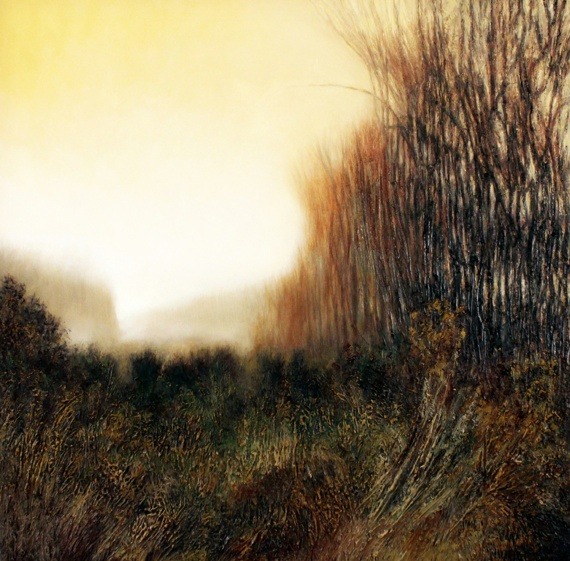 'First Light'  2012 oil on canvas 91x91cm