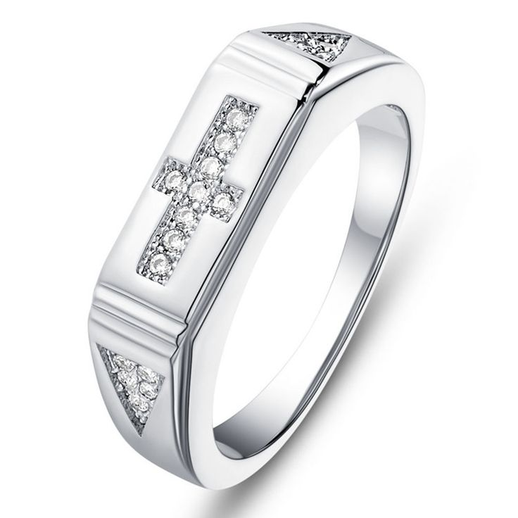 Supplies for jewelry fashion 925 silver women cubic zirconia engagement ring True Religious Cross rings size 9 anniversary gifts