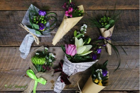 mini bouquets by Le Bouquet St. Laurent, Inc. - Montreal flower delivery service and full-service florist