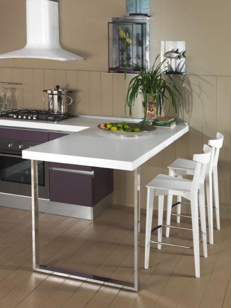 cuci 05 3500 composizione angolare per questa cucina disponibile con la variante penisola e due sgabelli o con tavolo e quattro sedie sempre al