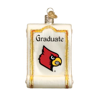 """Louisville+State+Diploma+Christmas+Ornament+61712+Merck+Family's+Old+World+Christmas+Size:+3.25""""+Introduced+2016+Material:+Mouth+blown,+hand+painted+glass+Prepackaged+Box+This+"""
