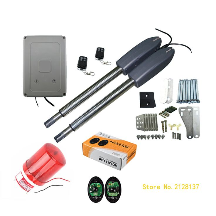 Electric Swing Gate Opener 400 KG Swing Gate Motor With 2 Remote Control with 1 pair of photocells 1 alarm light
