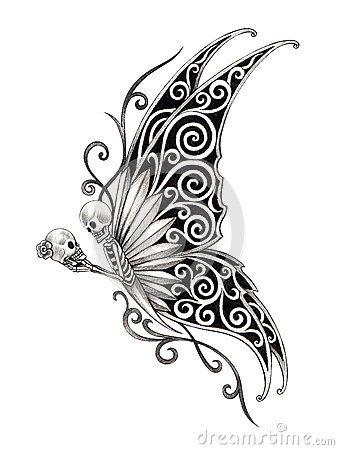25 best ideas about fairy tattoo designs on pinterest for Skull fairy tattoos