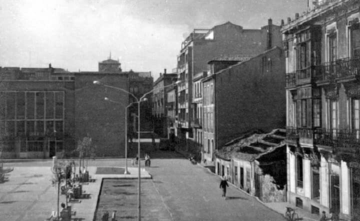 Plaza del mercado de San Agustin en 1960