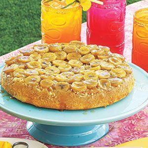 Luau recipes and food | Banana-Coconut Upside-Down Cake | AllYou.com
