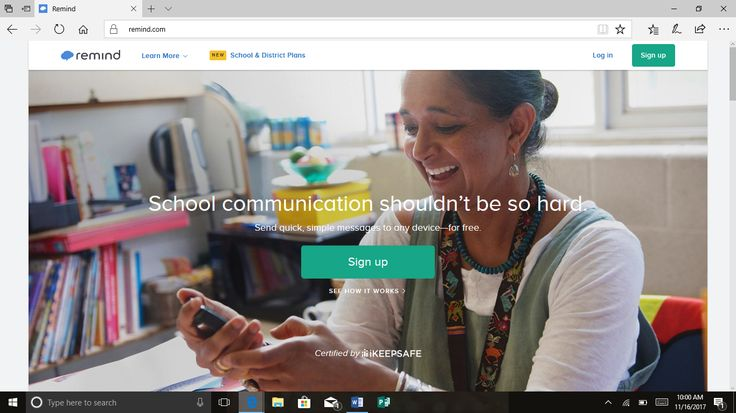 Remind.com is an app and website collaboration that helps students and teachers stay connected. I plan to use this in my classroom to set reminders for my class and their parents. Remind sends reminders to parent electronic devices of any message that the teacher chooses!