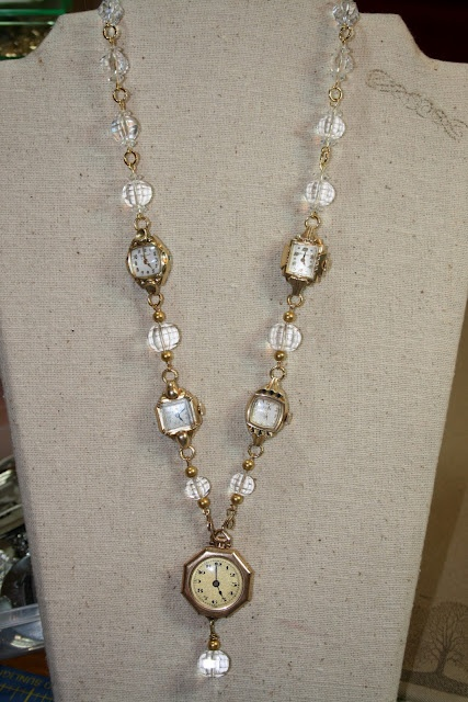 Old watches.... look for grandmothers old watches and make a memory necklace or bracelet