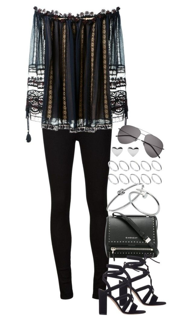 """""""Untitled #995"""" by manoella-f on Polyvore featuring AG Adriano Goldschmied, Chloé, Givenchy, Gianvito Rossi, Michael Kors, Cartier, ASOS and Yves Saint Laurent"""