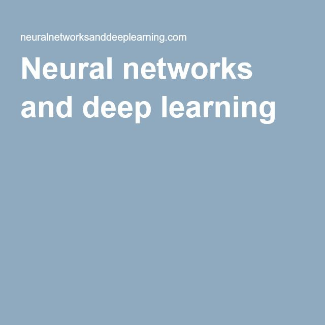 A free online book on neural networks and deep learning. Gotta brush up on my neural net knowledge at some point!