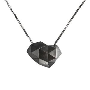 Image of Triangule, oxidised silver