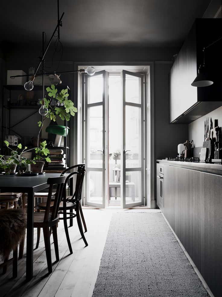 I Miss Those Sturdy European Balcony Doors Lovely Kitchen And Dining Area By Talented Lotta