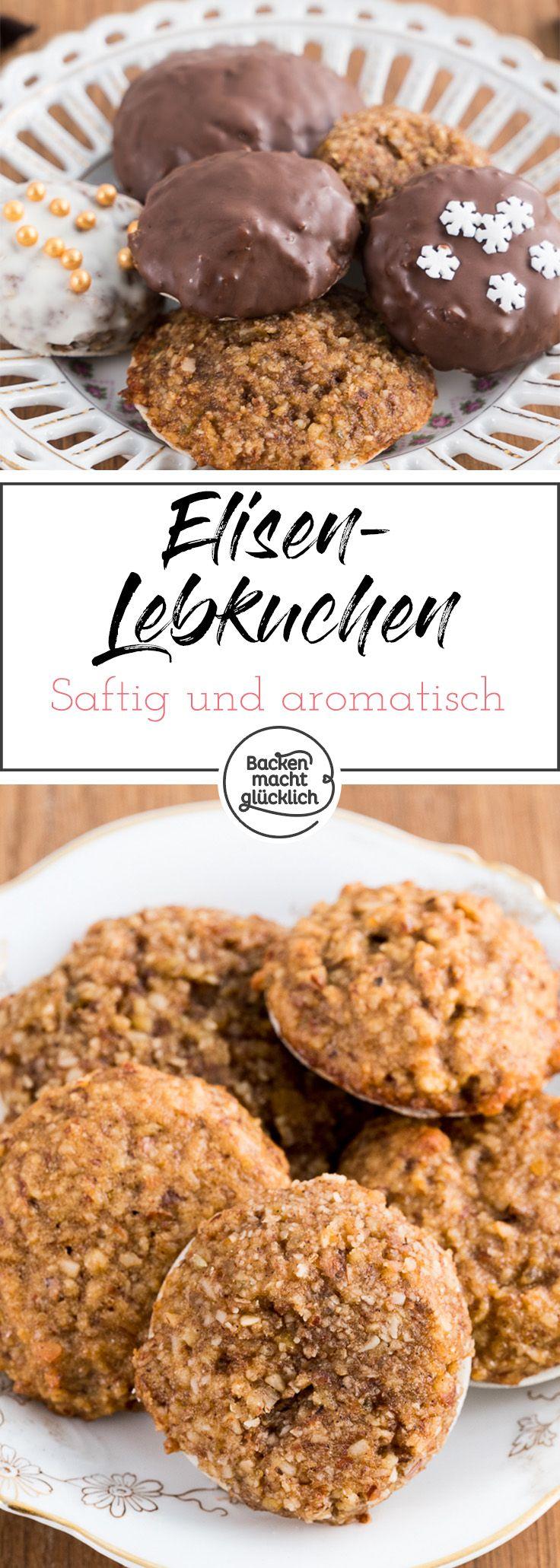 Elisenlebkuchen sind ein Klassiker unter den Plätzchen. Die Lebkuchen sind aromatisch und saftig. Mit diesem Rezept für Elisenlebkuchen ohne Mehl, kann man sie ganz einfach selber machen.