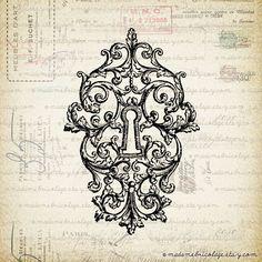 victorian lock key tattoo for women - Google Search