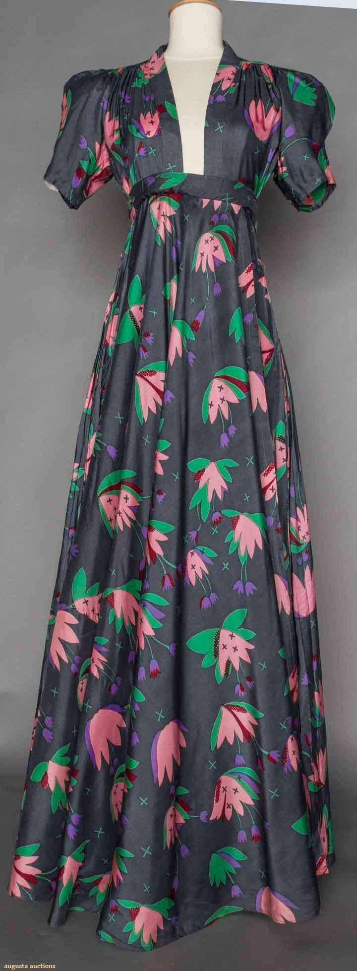 Ossie Clark/celia Birtwell Printed Dress, 1970, Augusta Auctions, November 11, 2015 NYC