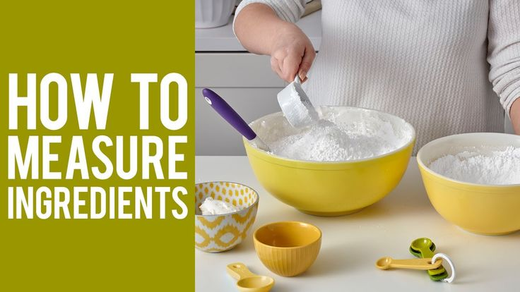 Learn how to measure wet and dry ingredients correctly for a tastier treat!