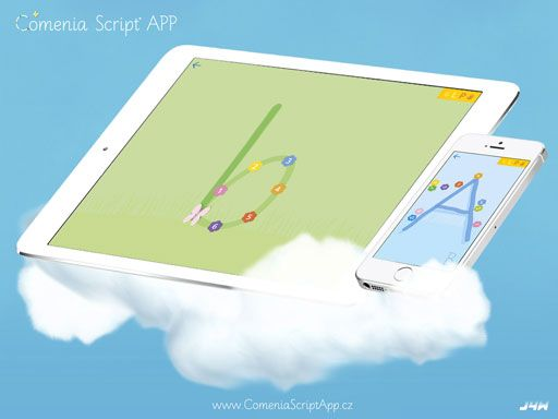 Aplikace pro výuku psaní novým oblíbeným písmem Comenia Script. Dostupná pro tablety, telefony a interaktivní tabule.