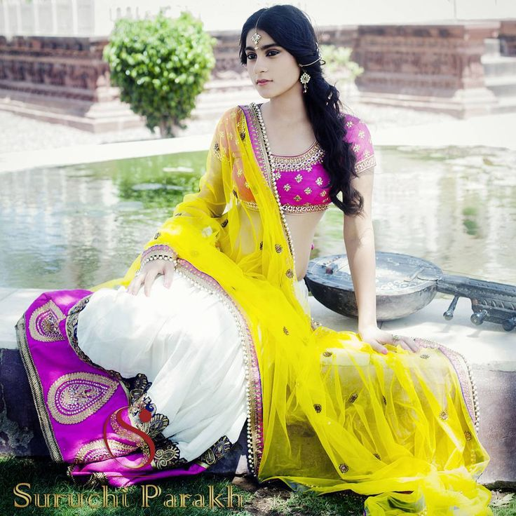 Bright and beautiful lehenga by Suruchi Parakh!