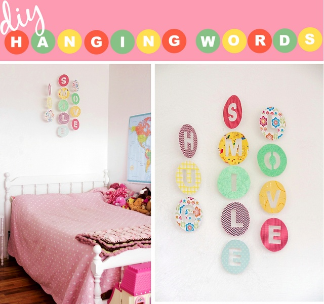 Hanging words decorations!