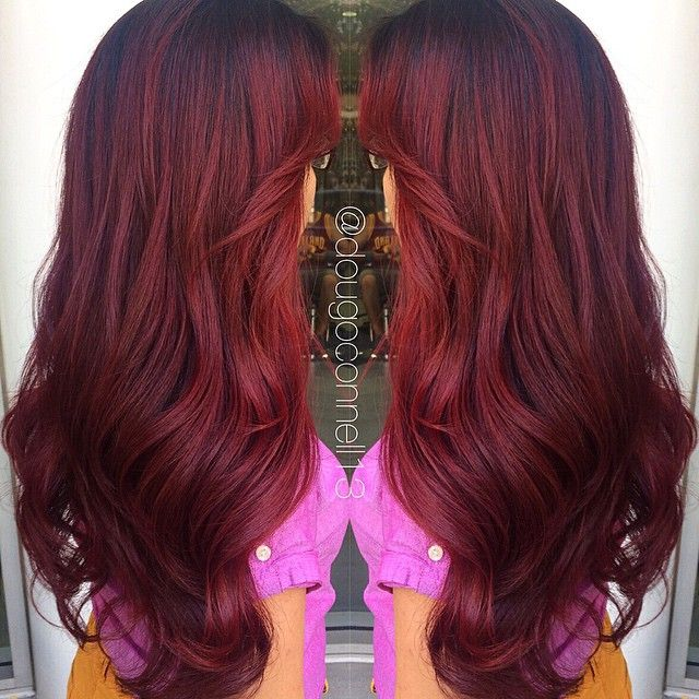 Finally my red hair that's Pinterest worthy!  Deep red velvet melt by me ❤️…